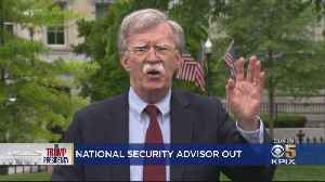 News video: President Trump Abruptly Dismisses Bolton At National Security Advisor