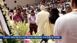 PM Modi, Amit Shah attend prayer meet for late Arun Jaitley in Delhi [Video]