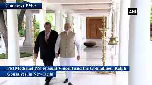 PM Modi meets Saint Vincent and the Grenadines couterpart in New Delhi [Video]