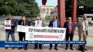 World Sindhi Congress protests outside UN office in Geneva against human rights abuse by Pakistan [Video]