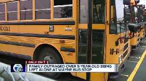 Family outraged over 5-year-old being left alone at Wayne bus stop [Video]