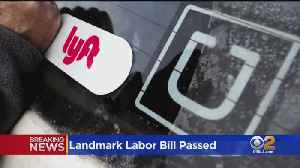 News video: California Lawmakers Pass Landmark Labor Bill For 'Gig' Workers