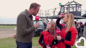Amanda Holden Completes Charity Skydive [Video]