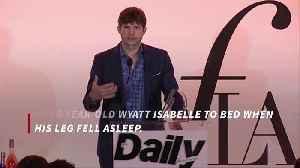 News video: Ashton Kutcher breaks toe