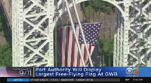 Port Authority Flies American Flag At GWB [Video]