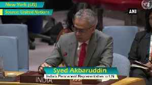 Safe havens enjoyed from beyond Afghanistan borders by Taliban Al Qaeda must be addressed Syed Akbaruddin [Video]
