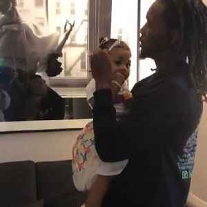 Cardi B shares adorable video of Offset styling their daughter's hair [Video]