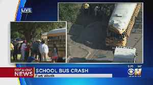 No Injuries Reported After Full School Bus Crashes Into Tree In Fort Worth [Video]