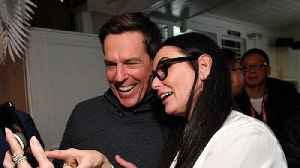 Ed Helms worried about explaining Demi Moore 'fling' to his wife [Video]