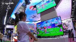 Visitors test official video game of Tokyo 2020 Olympics at Japanese gaming event [Video]
