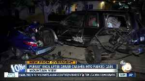 Car being pursued by San Diego police slams into parked vehicles in Mountain View [Video]