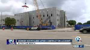 Worker hospitalized after construction accident in Boynton Beach [Video]