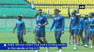South African team trains in Dharamshala ahead of opening T20 [Video]