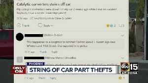 String of car part thefts in Phoenix [Video]