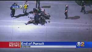 Pursuit Ends With Suspected Drunk Driver In Custody [Video]