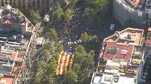 Watch: 600,000 Catalan independence supporters rally in Barcelona for holiday [Video]