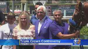 News video: Justify Trainer Bob Baffert Reacts To Report Of Failed Drug Test
