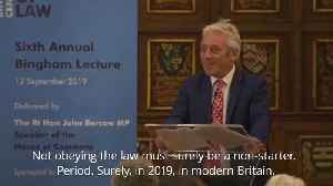 News video: Bercow insists Johnson must ask for Brexit extension