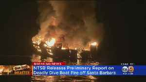 News video: NTSB: All Crew Members Asleep When Conception Caught Fire, Killing 34
