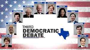 News video: WEB EXTRA: Third Democratic Debate Lineup