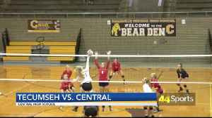 HS VB: Tecumseh Beats Central; Coach Johnson Records 300th Career Win [Video]