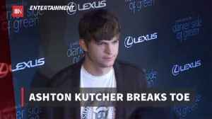 Ashton Kutcher Has An Unusual Accident [Video]