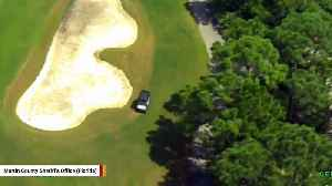 Man Uses Stolen Golf Cart In Attempt To Outrun Police Helicopter [Video]