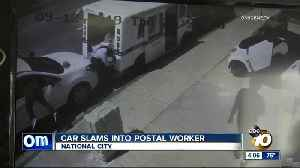 Car slams into postal worker in National City [Video]