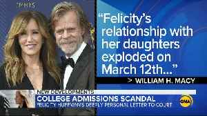 Sentencing day for actress Felicity Huffman in 'Varsity Blues' college entrance scam [Video]
