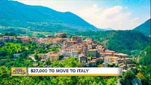 Get paid to move to Italy [Video]