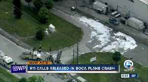 911 calls for Boca plane crash released; police report says pilot felt something was off with plane [Video]