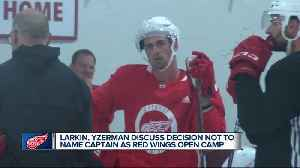 Larkin, Yzerman discuss decision not to name captain as Red Wings open training camp [Video]