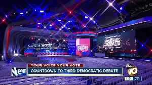 News video: Countdown to 3rd Democratic presidential debate