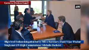 MEA Secretary meets UN Human Rights High Commissioner briefs her about JK situation [Video]