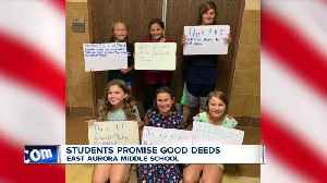 Students promise good deeds on 9/11 [Video]