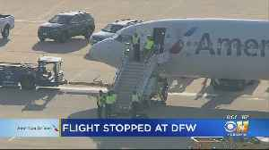 American Airlines Flight Deplanes Due To Mechanical Issue At DFW Airport [Video]