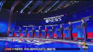 News video: Leading Democratic Candidates Spar, Make Nice (But Mostly Spar) At Presidential Debate