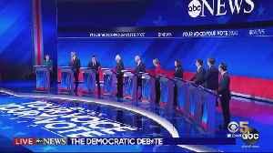 News video: Liberal, Moderate Divide on Display in Democratic Debate