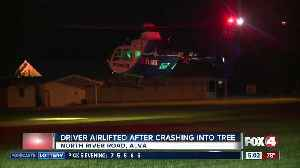 Driver airlifted after crashing into tree in Alva [Video]