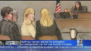 News video: Felicity Huffman Could Face Month In Prison In College Admissions Scandal Sentencing