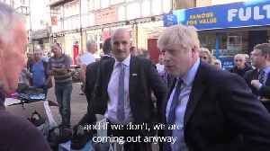 Boris Johnson promises October 31 Brexit date on trip to Doncaster market [Video]