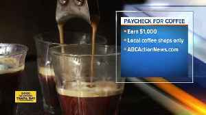 You can get paid $1,000 for drinking coffee for a month [Video]