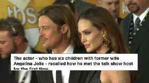 News video: Brad Pitt shares an ex with Ellen DeGeneres