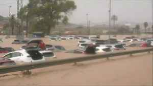 News video: Severe floods submerge cars in southern Spain