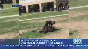VIDEO: Marine Recruiter Breaks Up Student Fight At Edison High With Tackle [Video]