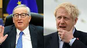 News video: Boris Johnson to hold talks with EU's Jean-Claude Juncker on Monday as Brexit deadline looms
