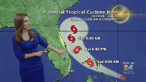 Tracking The Tropics: Potential Tropical Cyclone 9 9/13 12PM [Video]