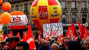 Transport workers' pension strike brings Paris to a standstill [Video]