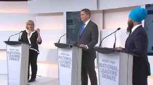 Elizabeth May Calls Andrew Scheer Trump-Lite [Video]