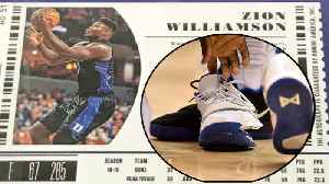 Zion Williamson Explains Shoe BLOWOUT As His Rookie Card Drives INSANE $22k Price! [Video]